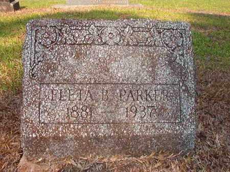 PARKER, FLETA B - Calhoun County, Arkansas | FLETA B PARKER - Arkansas Gravestone Photos