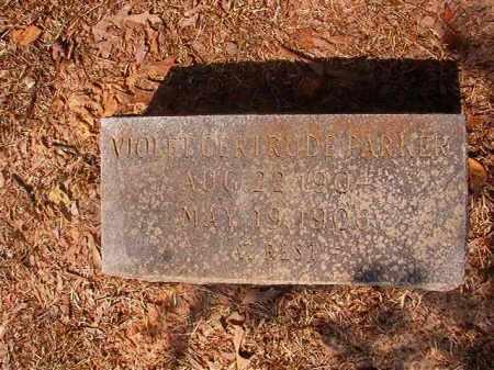 PARKER, VIOLET GERTRUDE - Calhoun County, Arkansas | VIOLET GERTRUDE PARKER - Arkansas Gravestone Photos