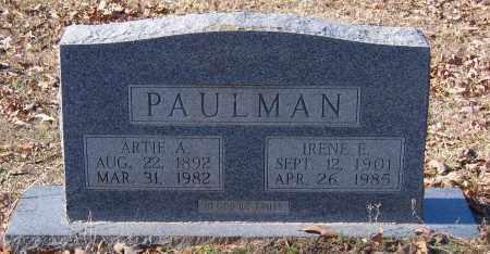 PAULMAN, ARTIE A. - Calhoun County, Arkansas | ARTIE A. PAULMAN - Arkansas Gravestone Photos