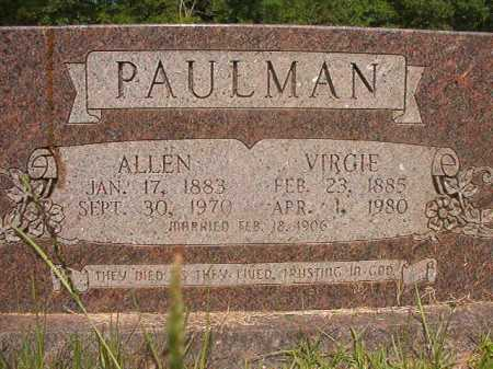 PAULMAN, VIRGIE - Calhoun County, Arkansas | VIRGIE PAULMAN - Arkansas Gravestone Photos