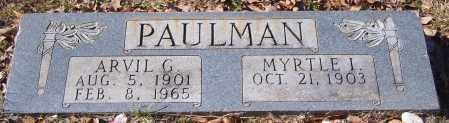 PAULMAN, ARVIL G. - Calhoun County, Arkansas | ARVIL G. PAULMAN - Arkansas Gravestone Photos