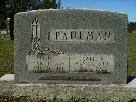 PAULMAN, ELDON O - Calhoun County, Arkansas | ELDON O PAULMAN - Arkansas Gravestone Photos