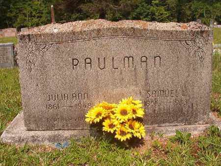 PAULMAN, JULIA ANN - Calhoun County, Arkansas | JULIA ANN PAULMAN - Arkansas Gravestone Photos