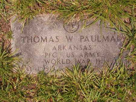 PAULMAN (VETERAN WWII), THOMAS W - Calhoun County, Arkansas | THOMAS W PAULMAN (VETERAN WWII) - Arkansas Gravestone Photos