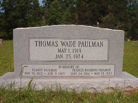 PAULMAN, THOMAS WADE - Calhoun County, Arkansas | THOMAS WADE PAULMAN - Arkansas Gravestone Photos