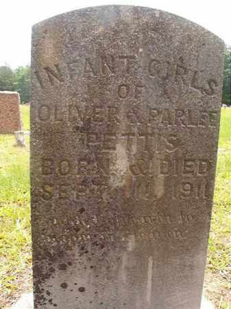 PETTIS, INFANT GIRLS - Calhoun County, Arkansas | INFANT GIRLS PETTIS - Arkansas Gravestone Photos