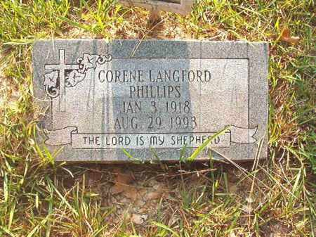 LANGFORD PHILLIPS, CORENE - Calhoun County, Arkansas | CORENE LANGFORD PHILLIPS - Arkansas Gravestone Photos