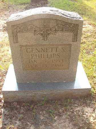 PHILLIPS, GENNETT S - Calhoun County, Arkansas | GENNETT S PHILLIPS - Arkansas Gravestone Photos