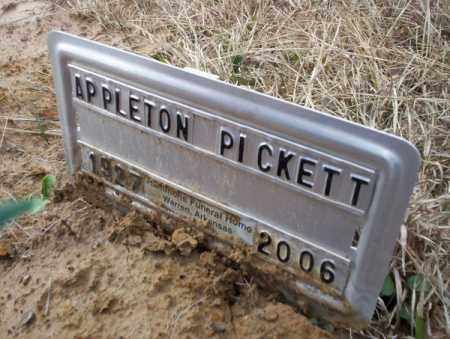 PICKETT, APPLETON - Calhoun County, Arkansas | APPLETON PICKETT - Arkansas Gravestone Photos