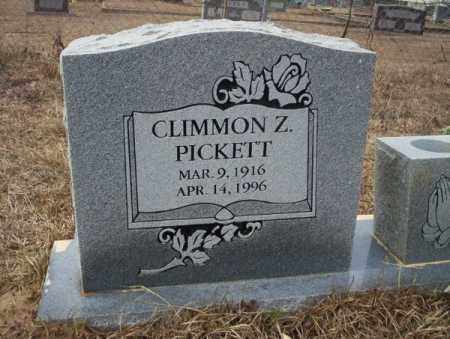 PICKETT, CLIMMON Z - Calhoun County, Arkansas | CLIMMON Z PICKETT - Arkansas Gravestone Photos