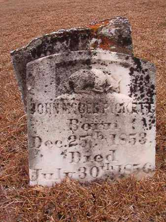 PICKETT, JOHN MCGEE - Calhoun County, Arkansas | JOHN MCGEE PICKETT - Arkansas Gravestone Photos