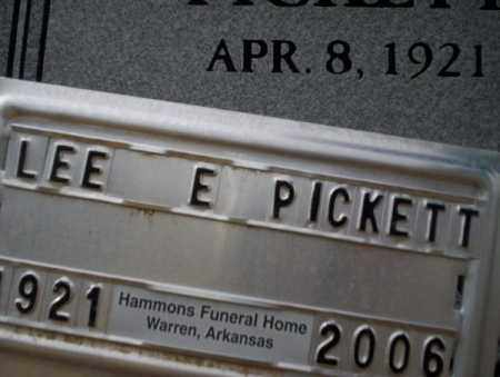 PICKETT, LEE E - Calhoun County, Arkansas | LEE E PICKETT - Arkansas Gravestone Photos