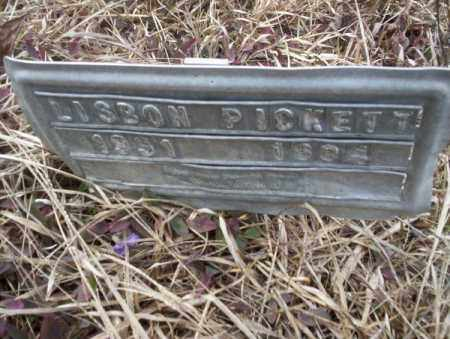 PICKETT, LISBON - Calhoun County, Arkansas | LISBON PICKETT - Arkansas Gravestone Photos