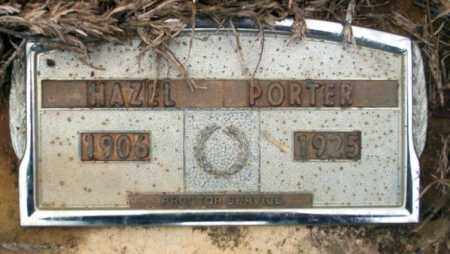 PORTER, HAZEL - Calhoun County, Arkansas | HAZEL PORTER - Arkansas Gravestone Photos