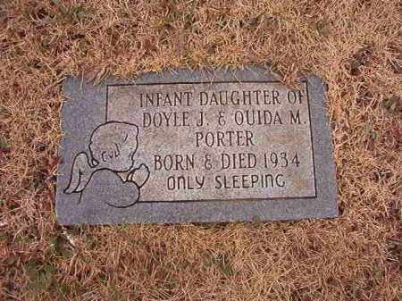 PORTER, INFANT DAUGHTER - Calhoun County, Arkansas | INFANT DAUGHTER PORTER - Arkansas Gravestone Photos