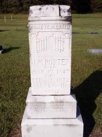 PORTER, J M - Calhoun County, Arkansas | J M PORTER - Arkansas Gravestone Photos