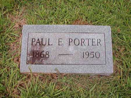 PORTER, PAUL E - Calhoun County, Arkansas | PAUL E PORTER - Arkansas Gravestone Photos