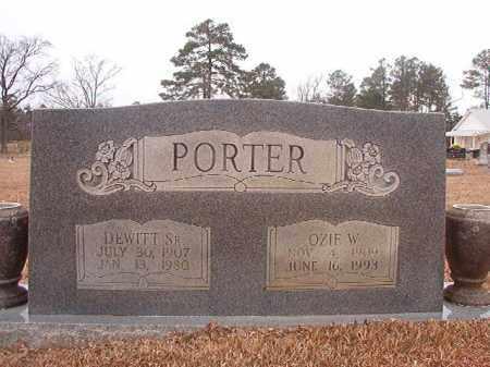 PORTER, SR, DEWITT - Calhoun County, Arkansas | DEWITT PORTER, SR - Arkansas Gravestone Photos