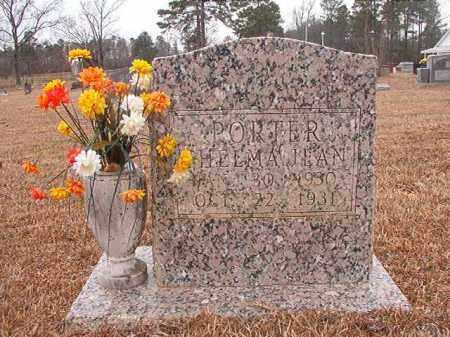 PORTER, THELMA JEAN - Calhoun County, Arkansas | THELMA JEAN PORTER - Arkansas Gravestone Photos
