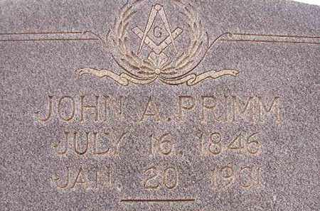 PRIMM, JOHN A - Calhoun County, Arkansas | JOHN A PRIMM - Arkansas Gravestone Photos