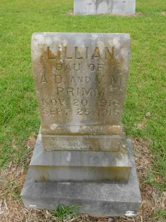 PRIMM, LILLIAN - Calhoun County, Arkansas | LILLIAN PRIMM - Arkansas Gravestone Photos