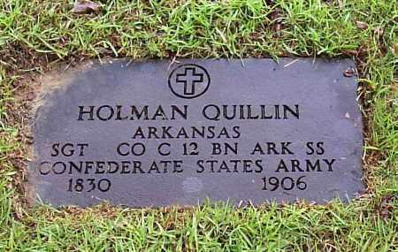 QUILLIN (VETERAN CSA), JESSE HOLMAN - Calhoun County, Arkansas | JESSE HOLMAN QUILLIN (VETERAN CSA) - Arkansas Gravestone Photos