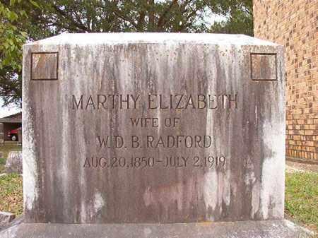 RADFORD, MARTHY ELIZABETH - Calhoun County, Arkansas | MARTHY ELIZABETH RADFORD - Arkansas Gravestone Photos