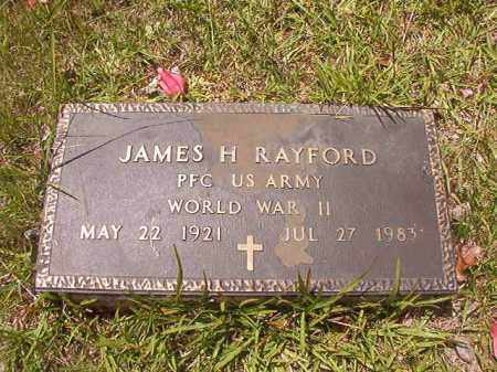RAYFORD (VETERAN WWII), JAMES H - Calhoun County, Arkansas | JAMES H RAYFORD (VETERAN WWII) - Arkansas Gravestone Photos
