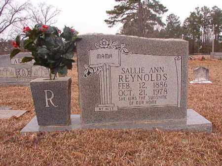 REYNOLDS, SALLIE ANN - Calhoun County, Arkansas | SALLIE ANN REYNOLDS - Arkansas Gravestone Photos