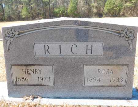 RICH, HENRY - Calhoun County, Arkansas | HENRY RICH - Arkansas Gravestone Photos