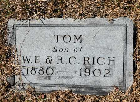 RICH, TOM - Calhoun County, Arkansas | TOM RICH - Arkansas Gravestone Photos