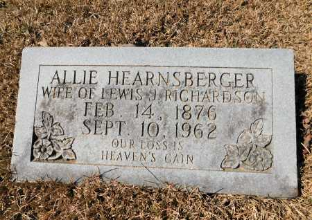 HEARNSBERGER RICHARDSON, ALLIE - Calhoun County, Arkansas | ALLIE HEARNSBERGER RICHARDSON - Arkansas Gravestone Photos