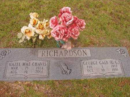 CHAVIS RICHARDSON, HAZEL MAE - Calhoun County, Arkansas | HAZEL MAE CHAVIS RICHARDSON - Arkansas Gravestone Photos