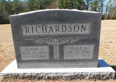RICHARDSON, HENRY A - Calhoun County, Arkansas | HENRY A RICHARDSON - Arkansas Gravestone Photos
