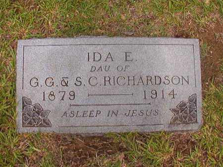 RICHARDSON, IDA E - Calhoun County, Arkansas | IDA E RICHARDSON - Arkansas Gravestone Photos