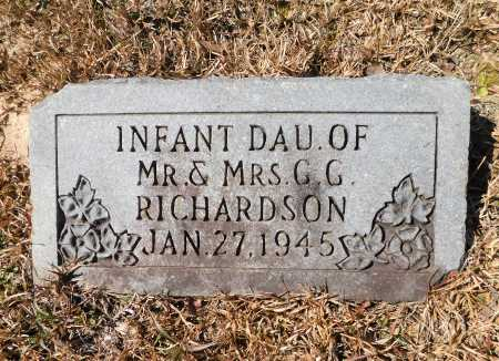 RICHARDSON, INFANT DAUGHTER - Calhoun County, Arkansas | INFANT DAUGHTER RICHARDSON - Arkansas Gravestone Photos