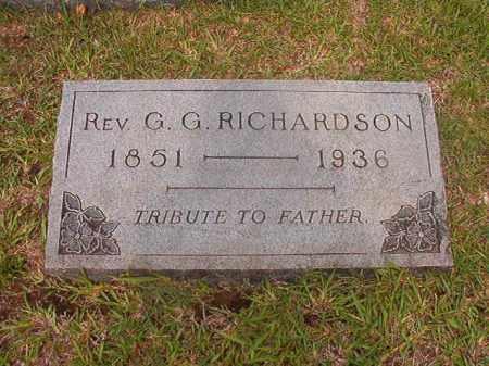 RICHARDSON, REV, G G - Calhoun County, Arkansas | G G RICHARDSON, REV - Arkansas Gravestone Photos
