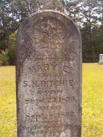 RITCHIE, MARY E - Calhoun County, Arkansas | MARY E RITCHIE - Arkansas Gravestone Photos