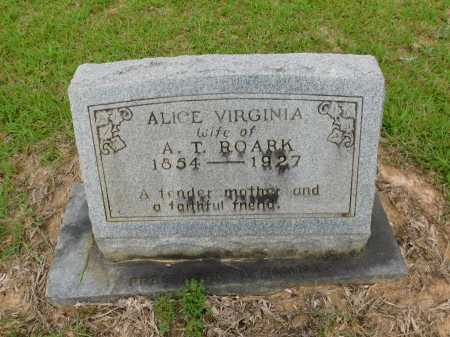 ROARK, ALICE VIRGINIA - Calhoun County, Arkansas | ALICE VIRGINIA ROARK - Arkansas Gravestone Photos