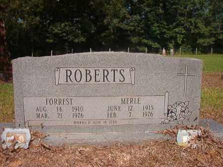 ROBERTS, MERLE - Calhoun County, Arkansas | MERLE ROBERTS - Arkansas Gravestone Photos