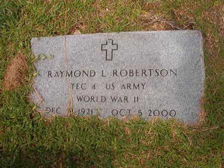 ROBERTSON (WWII), RAYMOND L - Calhoun County, Arkansas | RAYMOND L ROBERTSON (WWII) - Arkansas Gravestone Photos