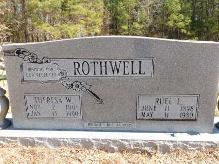ROTHWELL, THERESA W - Calhoun County, Arkansas | THERESA W ROTHWELL - Arkansas Gravestone Photos