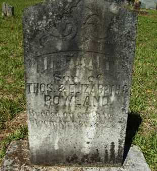 ROWLAND, INFANT SON - Calhoun County, Arkansas | INFANT SON ROWLAND - Arkansas Gravestone Photos