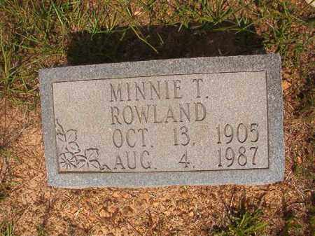 ROWLAND, MINNIE VIOLA - Calhoun County, Arkansas | MINNIE VIOLA ROWLAND - Arkansas Gravestone Photos