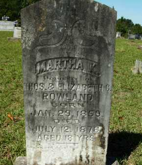 ROWLAND, MARTHA K - Calhoun County, Arkansas | MARTHA K ROWLAND - Arkansas Gravestone Photos