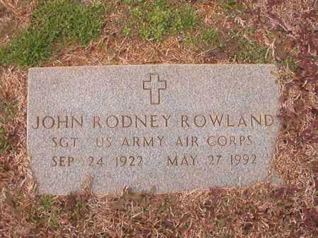 ROWLAND (VETERAN), JOHN RODNEY - Calhoun County, Arkansas | JOHN RODNEY ROWLAND (VETERAN) - Arkansas Gravestone Photos