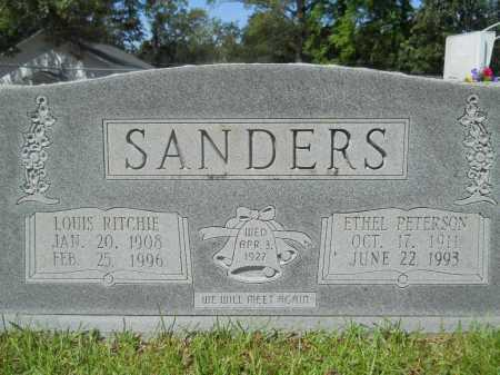 PETERSON SANDERS, ETHEL - Calhoun County, Arkansas | ETHEL PETERSON SANDERS - Arkansas Gravestone Photos