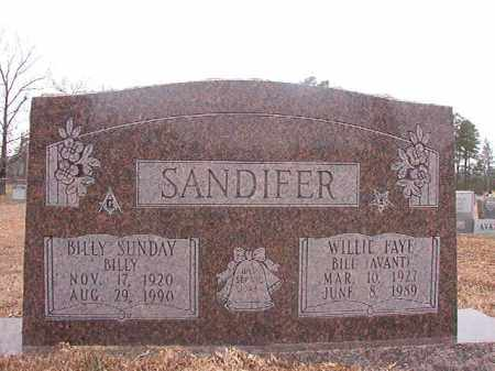 AVANT SANDIFER, WILLIE FAYE - Calhoun County, Arkansas | WILLIE FAYE AVANT SANDIFER - Arkansas Gravestone Photos
