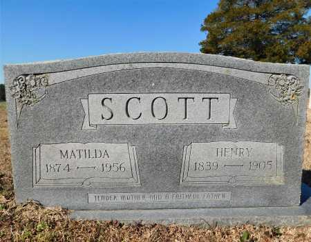SCOTT, MATILDA - Calhoun County, Arkansas | MATILDA SCOTT - Arkansas Gravestone Photos