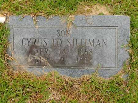 SILLIMAN, CYRUS ED - Calhoun County, Arkansas | CYRUS ED SILLIMAN - Arkansas Gravestone Photos